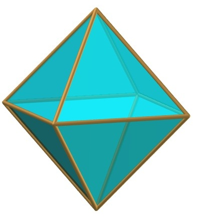 5. I have already explained that an octahedron can be fitted together from two crossed...