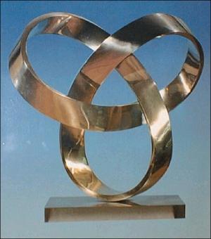 sculpture en noeud de trèfle, université de Flensburg